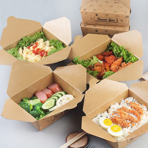 Custom printed take away boxes