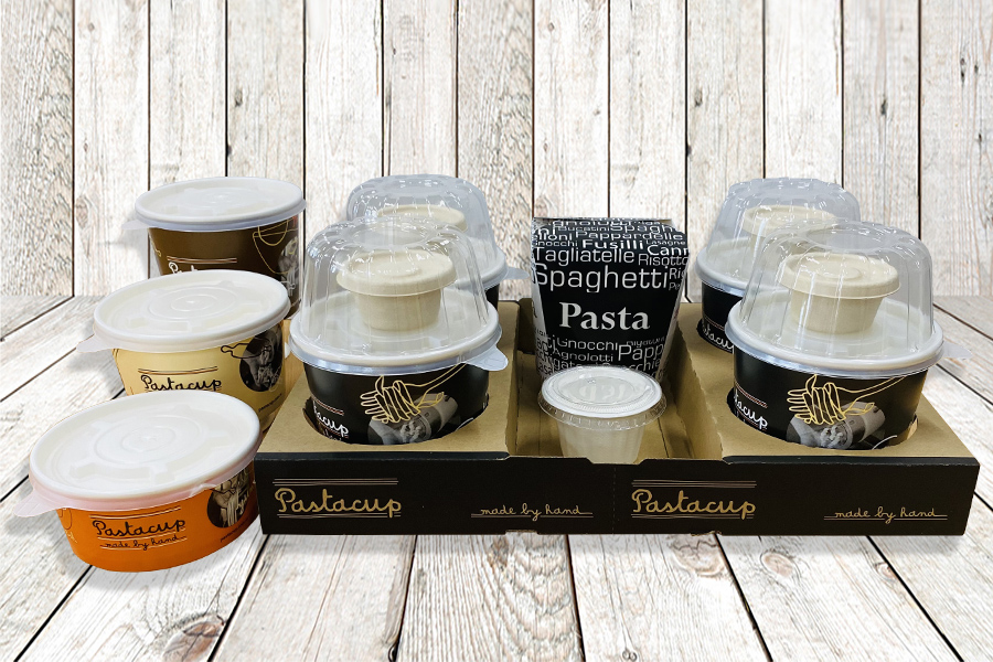 Branded takeaway Pasta containers